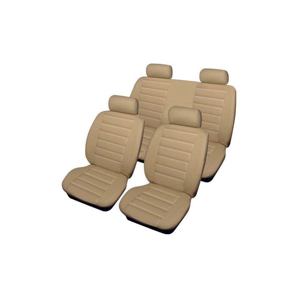 Cosmos Car Seat Cover Leatherlook - Set - Beige