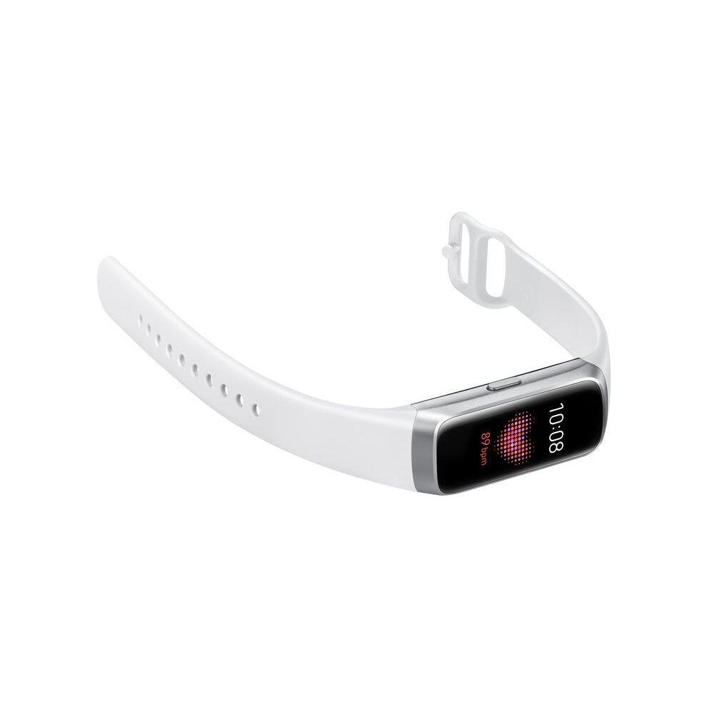 Samsung SM-R370NZSABTU Galaxy Fit Silver Activity Tracker With Strap Fluoro SM-R