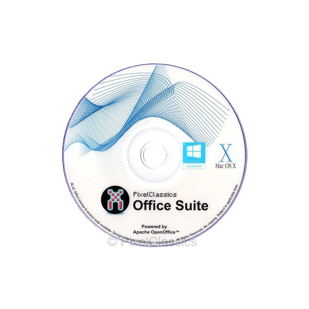 PixelClassics Office Suite 2021 Microsoft Office 365 2016 Compatible Software DVD CD Powered b