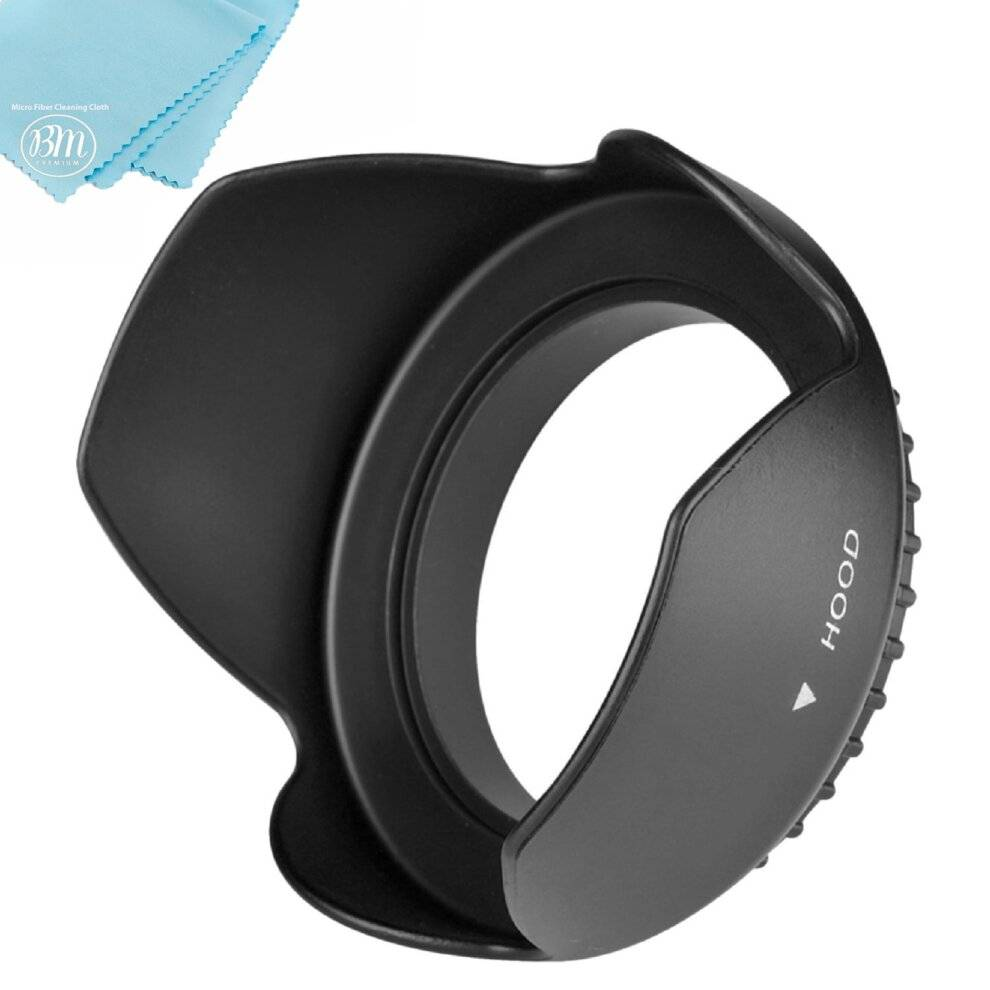 BIG MIKE'S ELECTRONICS 40.5mm Tulip Flower Lens Hood for Sony Alpha A5000, A5100, A6000, A6300, A640