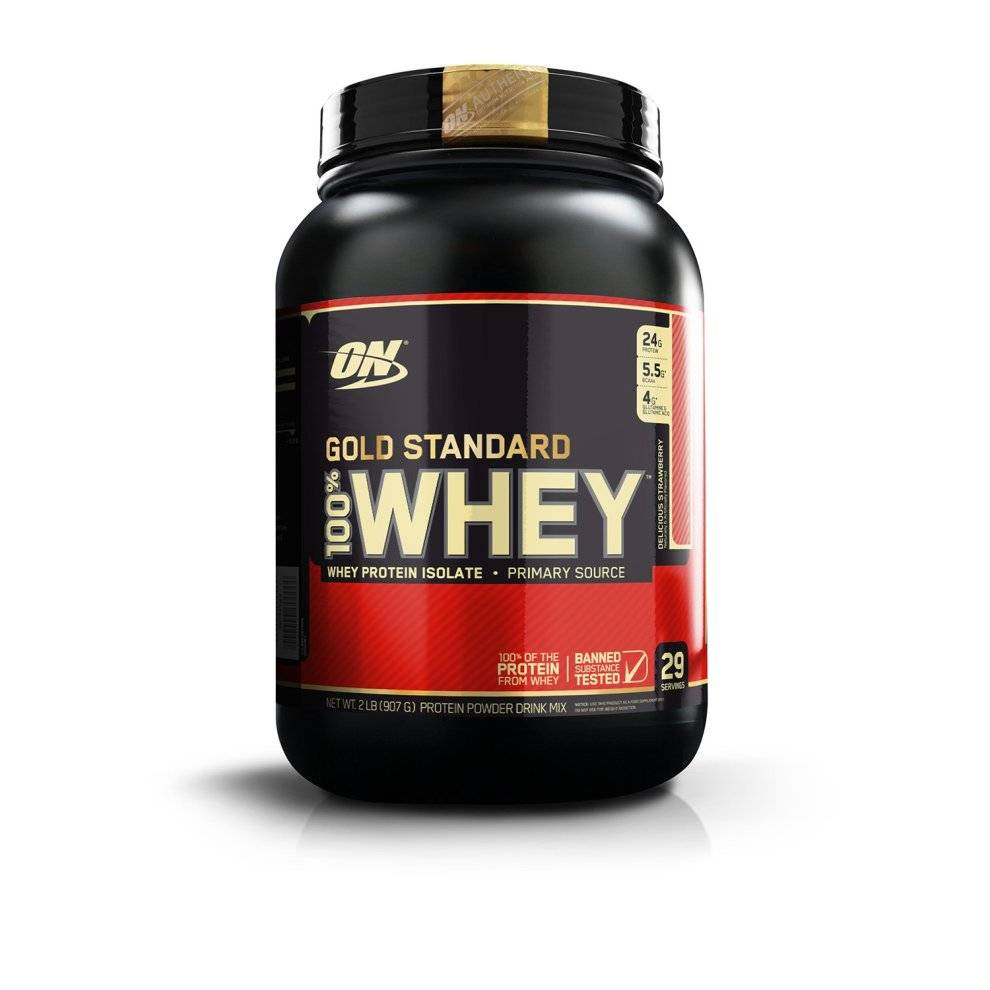 Optimum Nutrition Gold Standard 100% Whey Protein Powder - 908 g, Strawberry