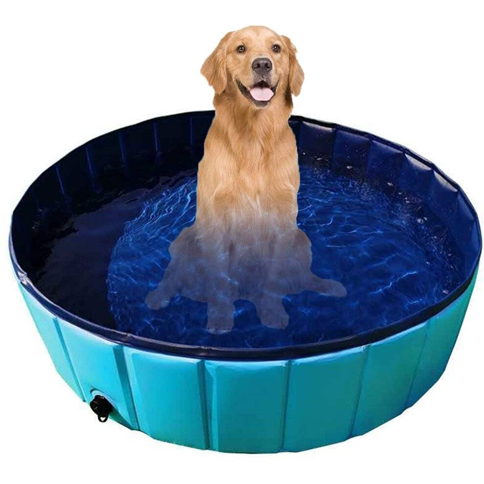 Unbranded Gravitis Pet Supplies Dog Paddling Pool. Folding Rigid Panel Pet Pool (Large 120