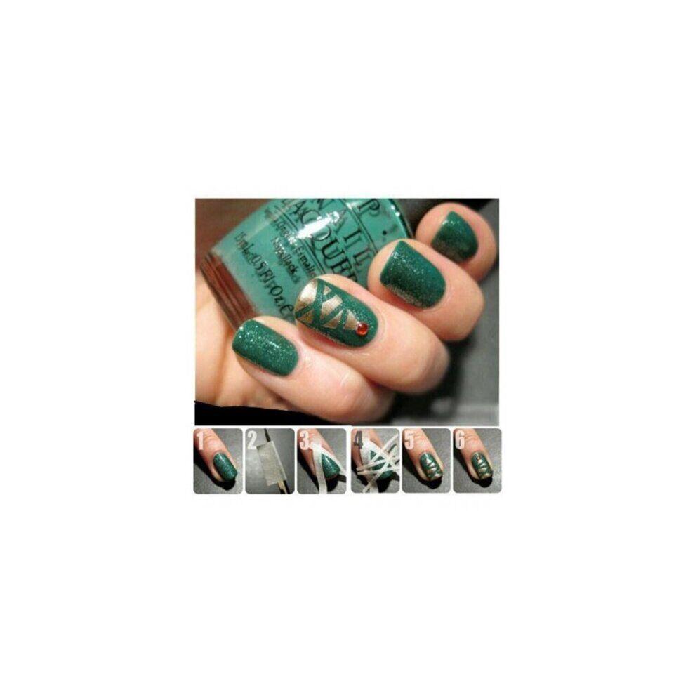 watanablemarket Beauty Women's Fashion Nail Polish 17m*0.5cm French Style Cosmetic Manicure Nail