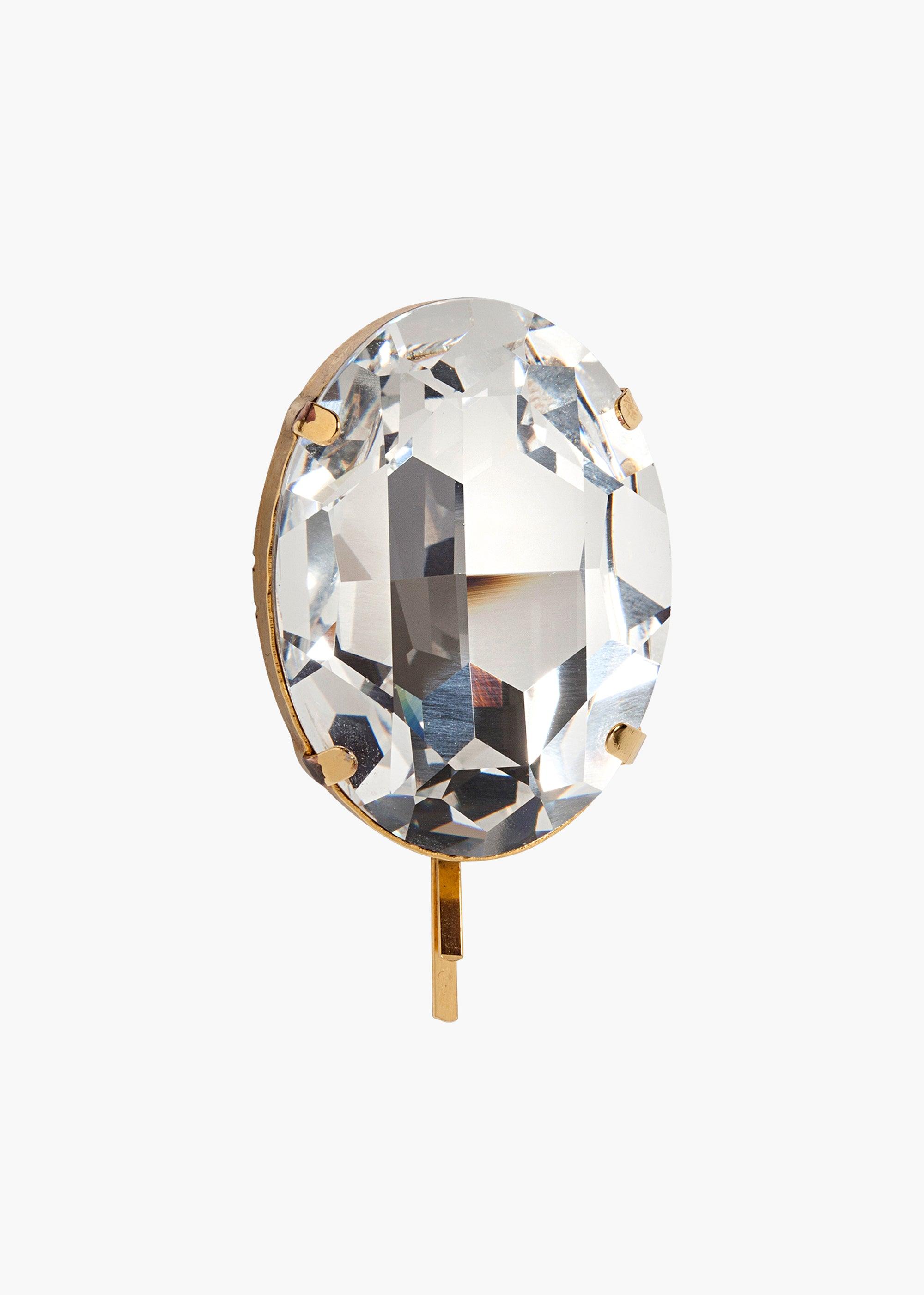 Jennifer Behr Winston Bobby Pin, Crystal Antique Gold