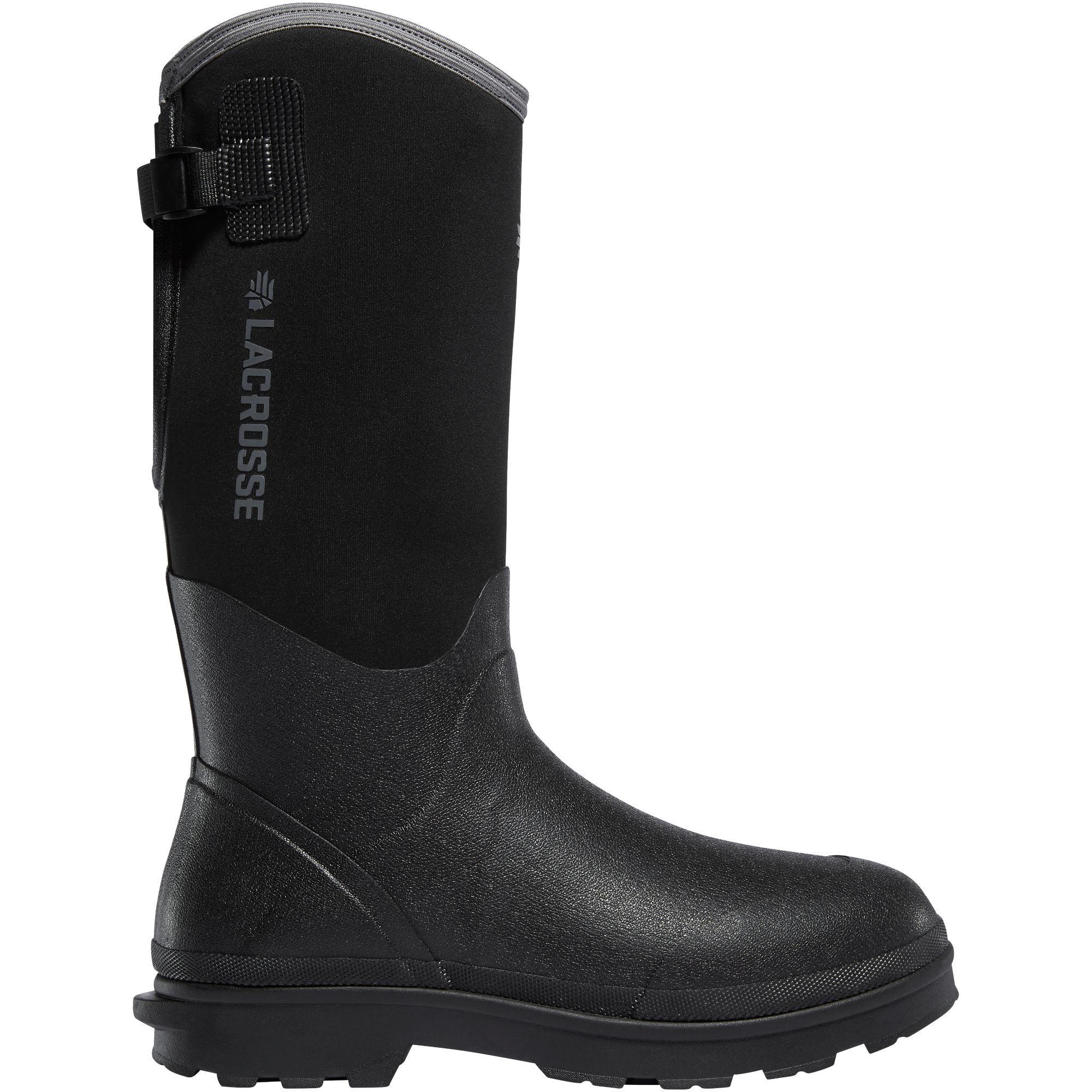 "LaCrosse Alpha Range 14"" 5mm Boots (9)- Black"