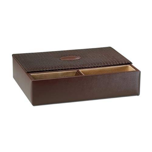Ragar GQ Genuine Leather Valet Box - Brown