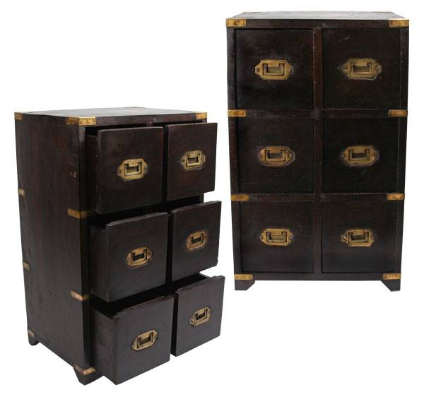 British Campaign Military Chest of Drawers