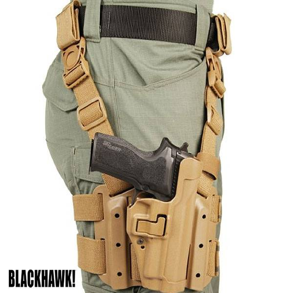Blackhawk Serpa L2 Tactical Holster Sig P250/320 LEFTHAND (61) Coyote