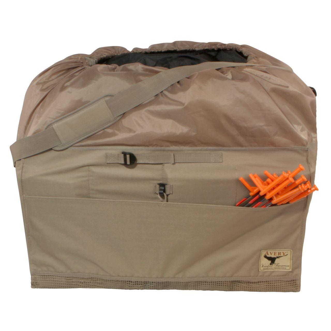 Avery Outdoors 12-Slot Mid-Size Full Body Goose Bag - Khaki