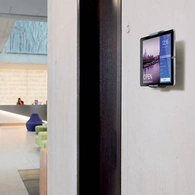 Durable 893323 Silver Metal Wall-Mount Tablet Holder