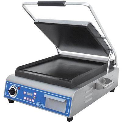 "Globe ""Globe GSG14D Deluxe Sandwich Grill with Smooth Plates - 14"""" x 14"""" Cooking Surface - 120V, 1800W"""