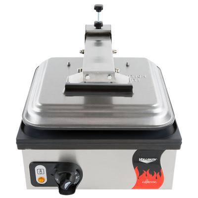 "Vollrath ""Vollrath 40792 Cayenne Single Panini Sandwich Press - Smooth Non Stick Plates - 13 5/16"""" x 12 3/16"""" Cooking Surface - 120V, 1800W"""