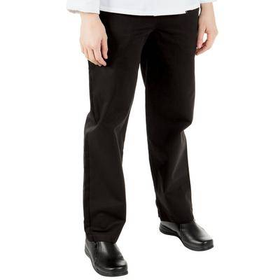 Mercer Culinary Genesis M61080 Black Women's Chef Pants - Extra Small