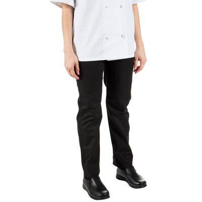 Mercer Culinary Renaissance M62120 Black Women's Pleated Chef Trousers - 2XL
