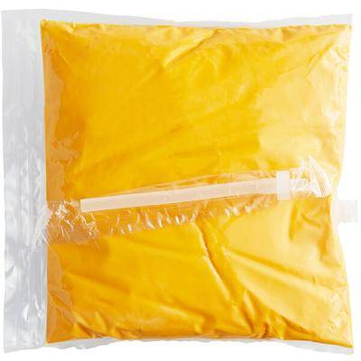 Advanced Food Products Muy Fresco 110 oz. Cheddar Cheese Sauce Bag - 4/Case