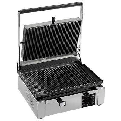 "Eurodib ""Eurodib CORT-R Panini Grill with Grooved Plates - 14 1/2"""" x 10"""" Cooking Surface - 110V, 1800W"""