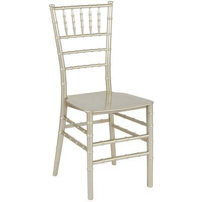 Flash Furniture LE-CHAMP-M-GG Hercules Series Champagne Resin Chiavari Outdoor / Indoor Stackable Chair