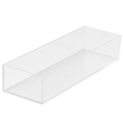 "Cal-Mil ""Cal-Mil 1396-12 Cater Choice Clear Acrylic Accessory Bowl - 5"""" x 15"""" x 3"""""""
