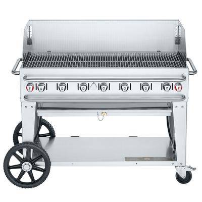 "Crown Verity RCB-48WGP-SI-LP 48"""" Pro Series Outdoor Rental Grill with Single Gas Inlet and Wind Guard Package"""