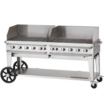 """Crown Verity RCB-72WGP Liquid Propane 72"""""""" Pro Series Outdoor Rental Grill with Wind Guard Package"""""""