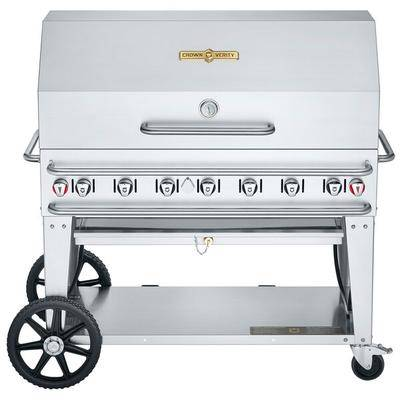 "Crown Verity RCB-48RDP Liquid Propane 48"""" Pro Series Outdoor Rental Grill with Roll Dome Package"""