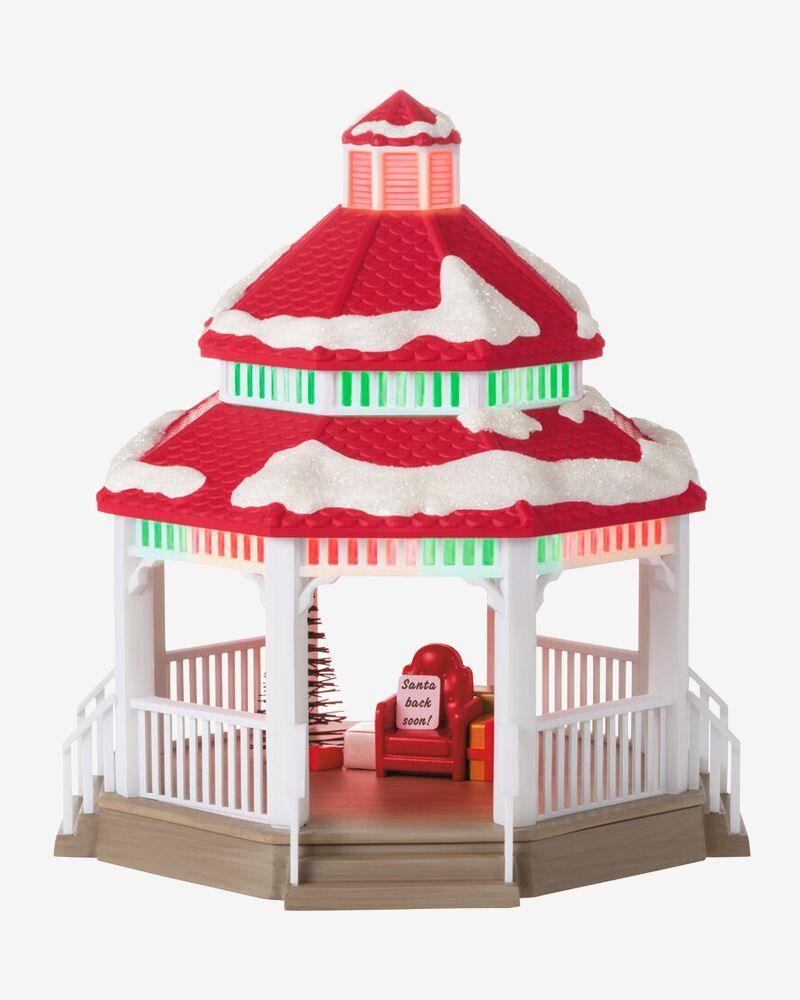 Hallmark Sound-a-Light Santa's Gazebo Tabletop Decoration