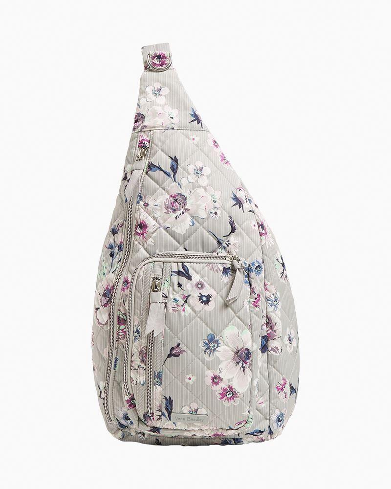Vera Bradley Sling Backpack in Park Stripe