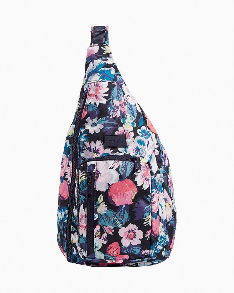 Vera Bradley ReActive Sling Backpack in Garden Picnic