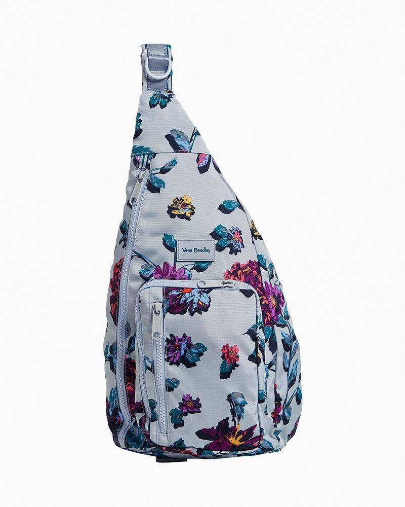 Vera Bradley ReActive Sling Backpack in Neon Ivy