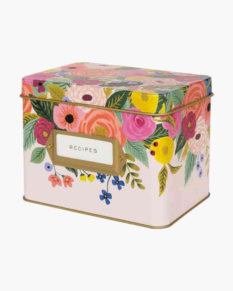 Rifle Paper Co. Juliet Rose Kitchen Recipe Box
