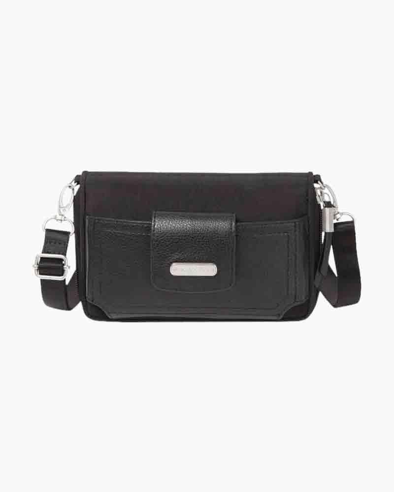 baggallini RFID Phone Wallet Crossbody in Black