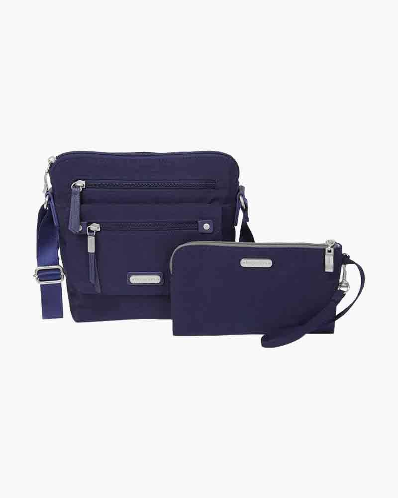 baggallini Escape Crossbody with RFID Phone Wristlet in Navy