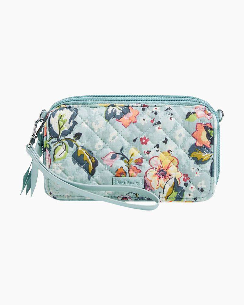 Vera Bradley RFID All in One Crossbody in Floating Garden