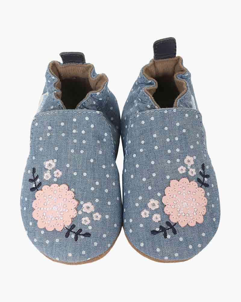 Robeez Chambray Bouquet Infant Shoes