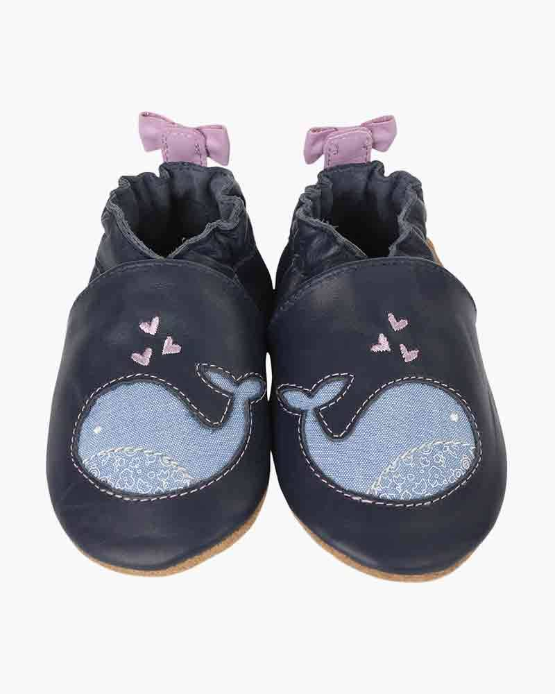 Robeez Poppy Whale Infant Shoes