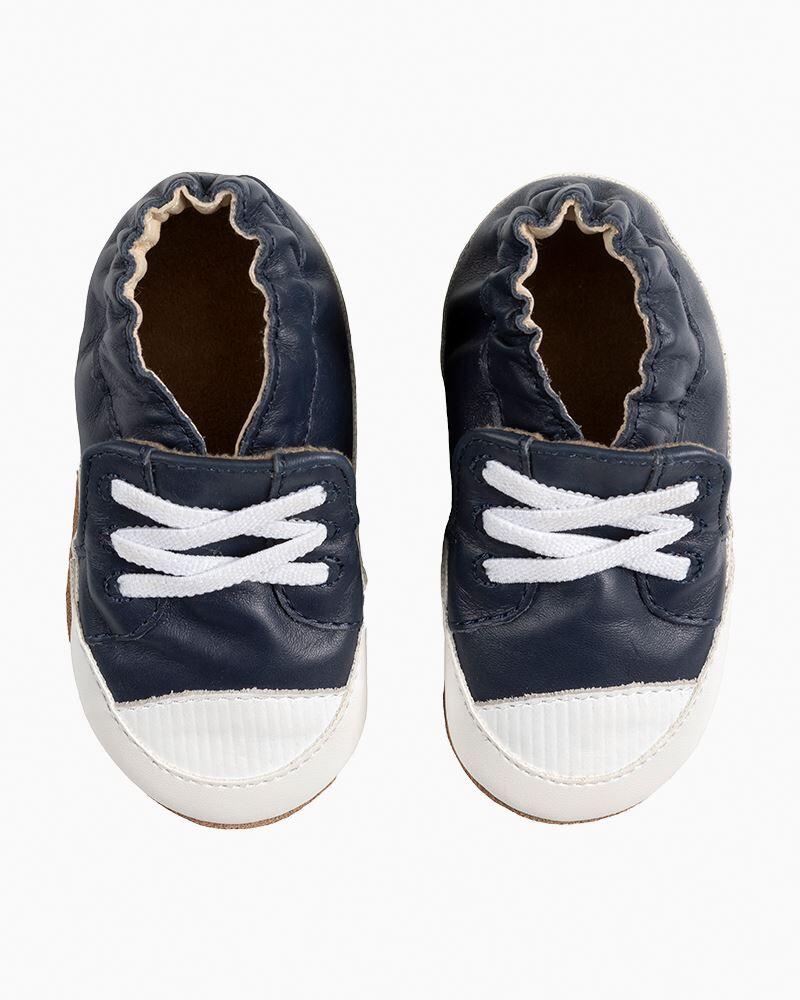 Robeez Boy's Corey Blue Soft Soles Infant Shoes