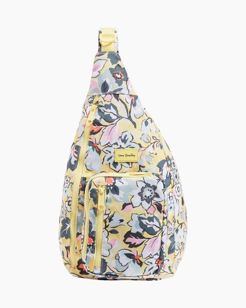 Vera Bradley ReActive Sling Backpack in Sunny Garden