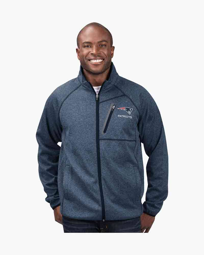 G-III Sports Men's New England Patriots Full Zip Switchback Jacket