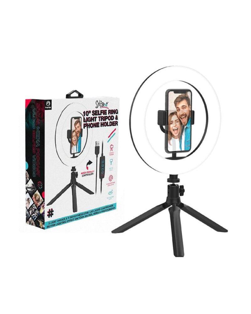 SelfShot Selfie Ring Light Tripod and Phone Holder