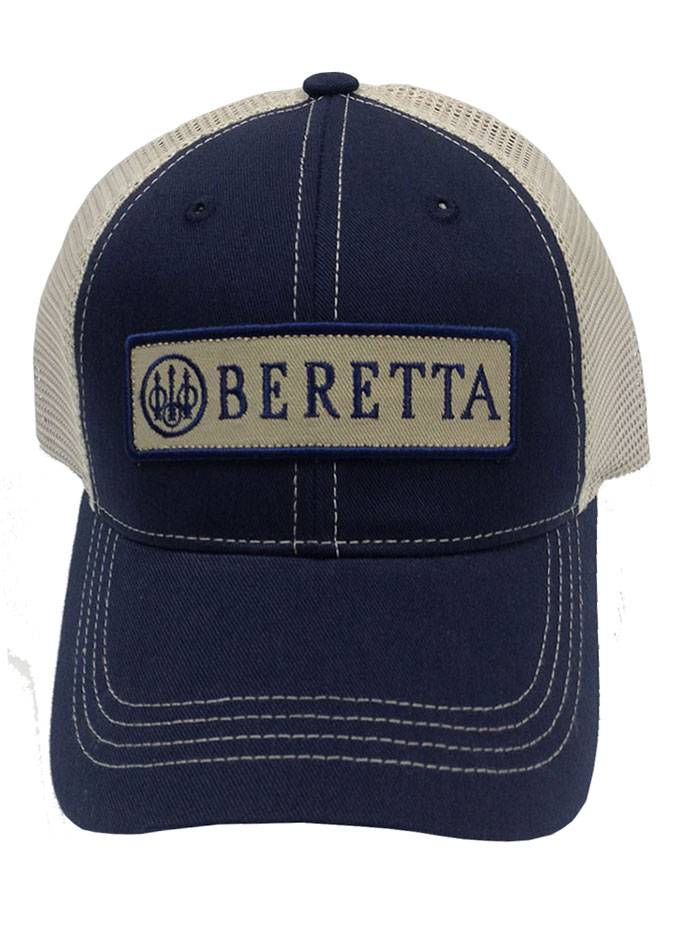 BerettaUSA   Patch Trucker Hat in Navy, Cotton/Velcro