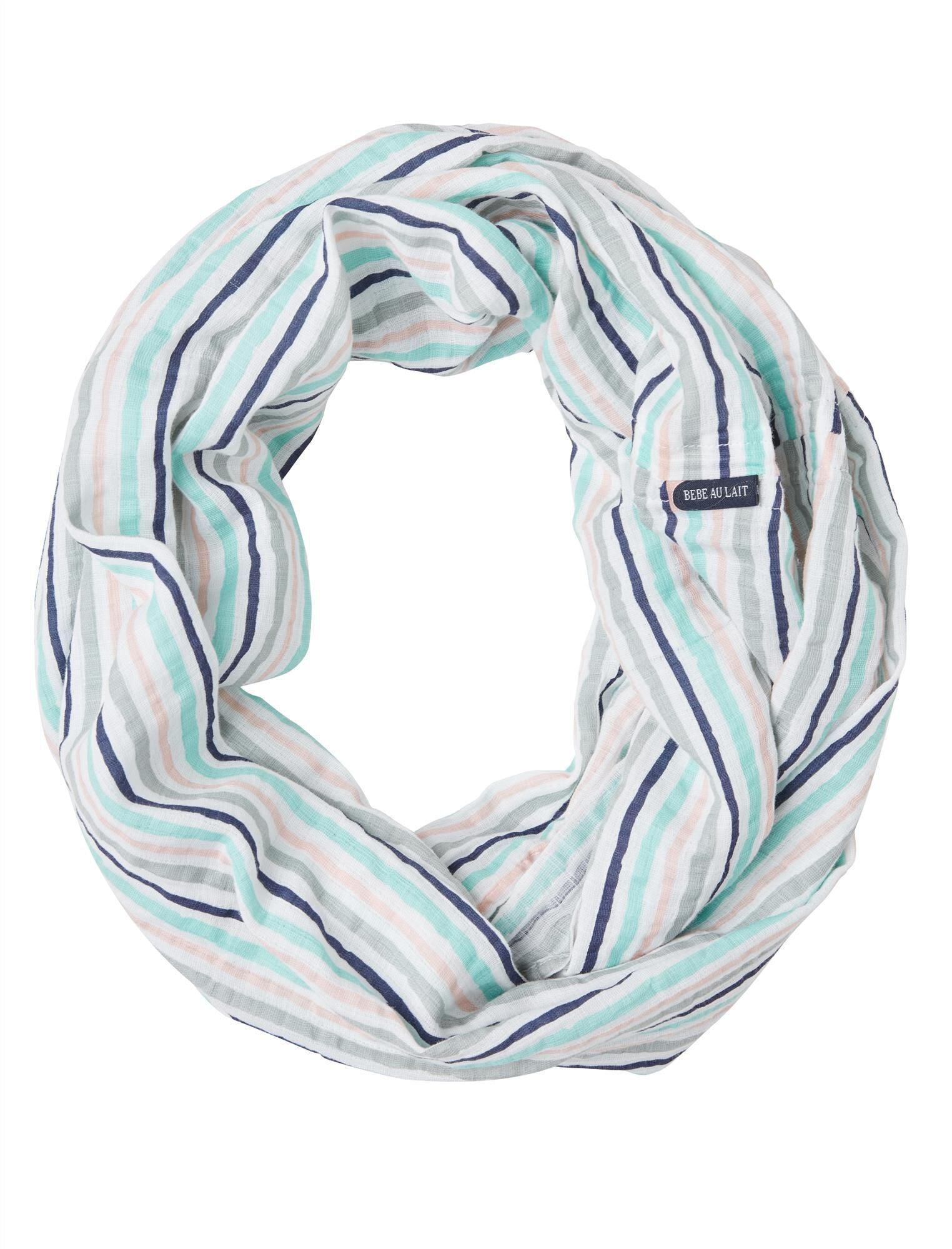 Motherhood Maternity Bebe au Lait Muslin Infinity Breastfeeding Scarf- Candy Stripe in   (Size: )