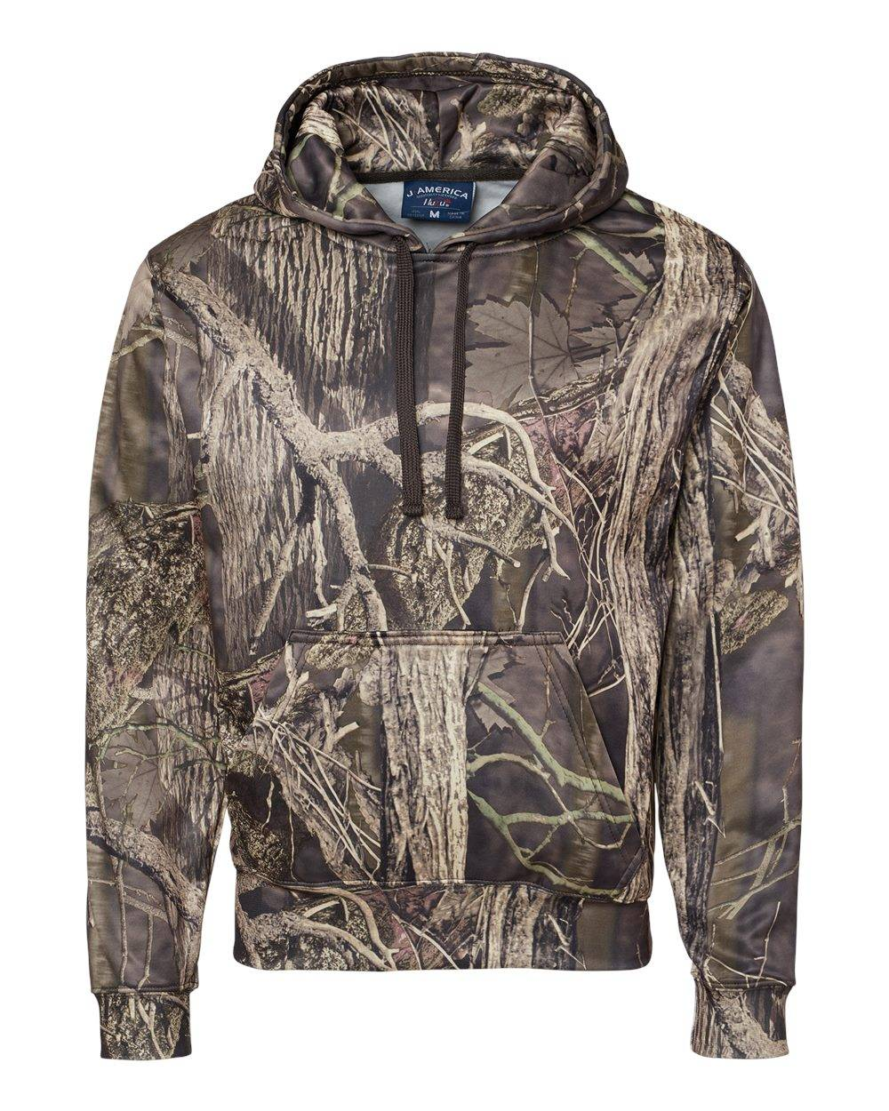 J. America - Polyester Tailgate Hooded Sweatshirt - 8615 - Outdoor Camo - Large