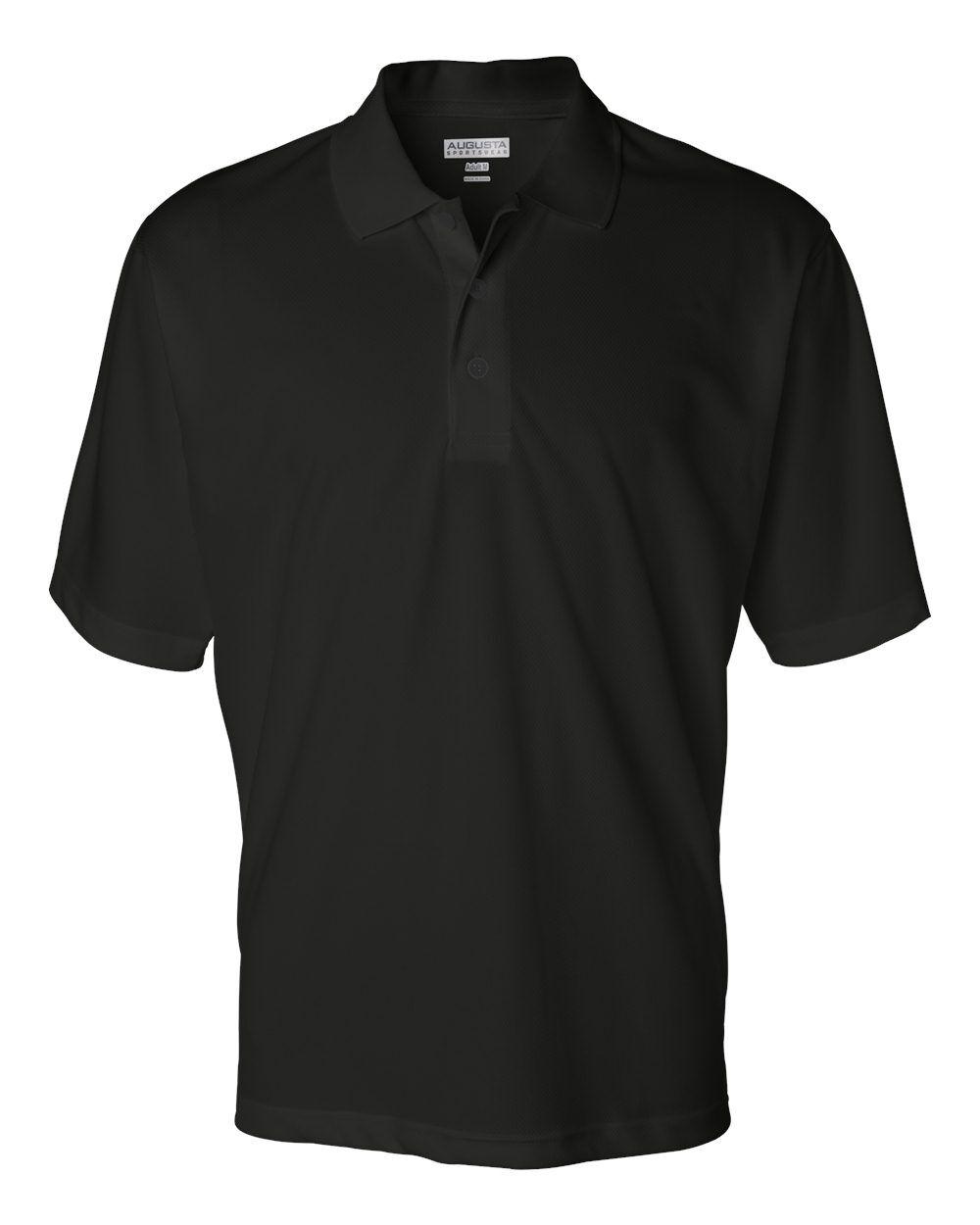 Augusta Sportswear - Wicking Mesh Sport Shirt - 5095 - Black - X-Large