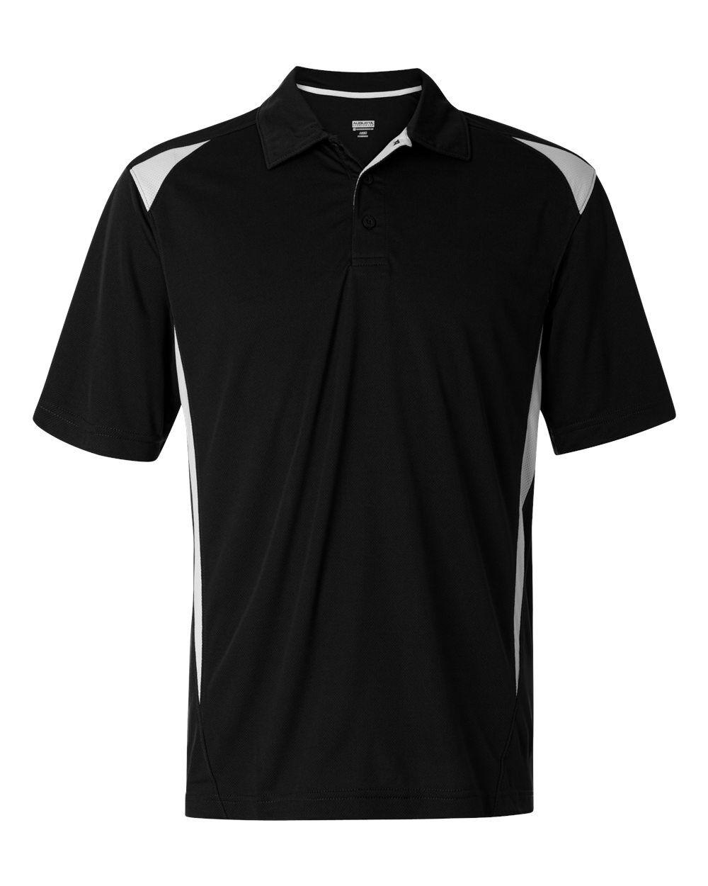 Augusta Sportswear - Two-Tone Premier Sport Shirt - 5012 - Black/ White - Large