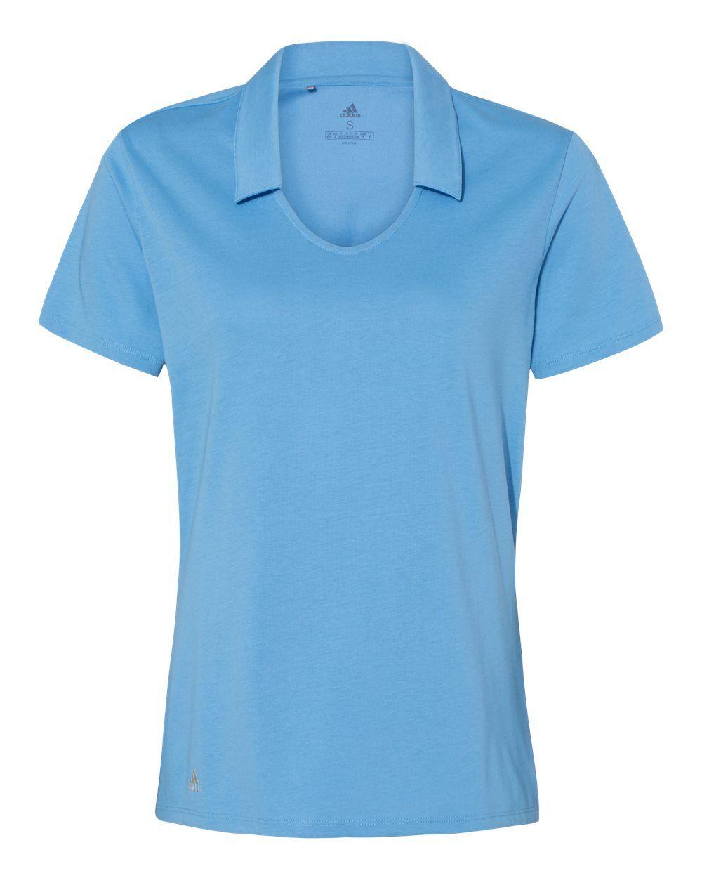 Adidas - Women's Cotton Blend Sport Shirt - A323 - Light Blue - Large