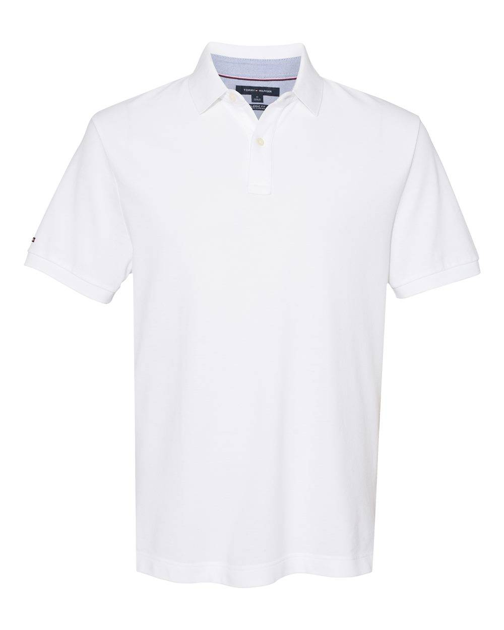 Tommy Hilfiger - Classic Fit Ivy Piqu Sport Shirt - 13H1867 - Bright White - Large
