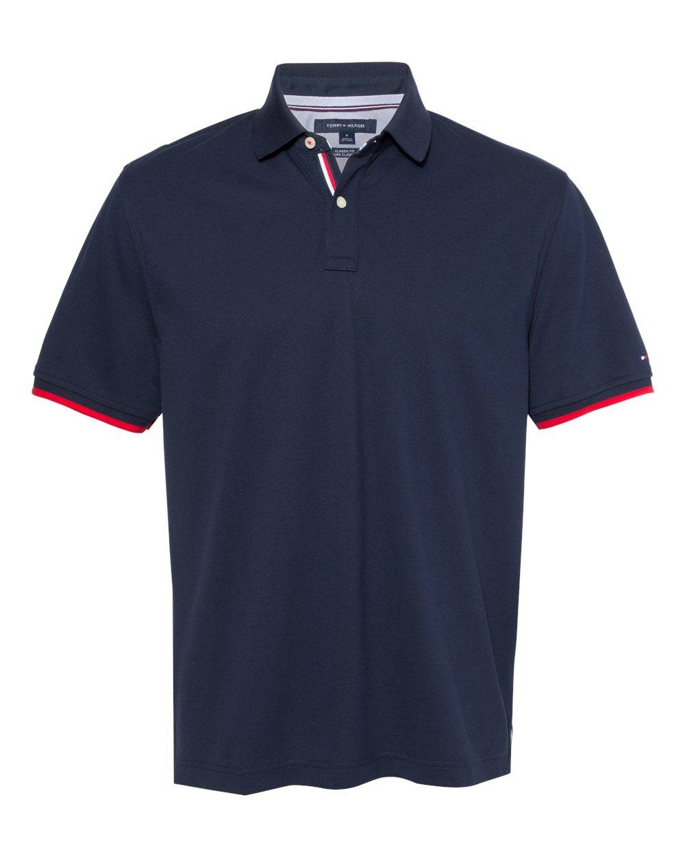 Tommy Hilfiger - Sanders Tipped Cotton Piqu Sport Shirt - 13H2150 - Navy Blazer - 3X-Large