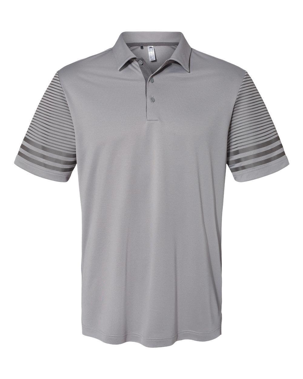 Adidas - Striped Sleeve Sport Shirt - A490 - Grey Three/ Grey Five - 3X-Large
