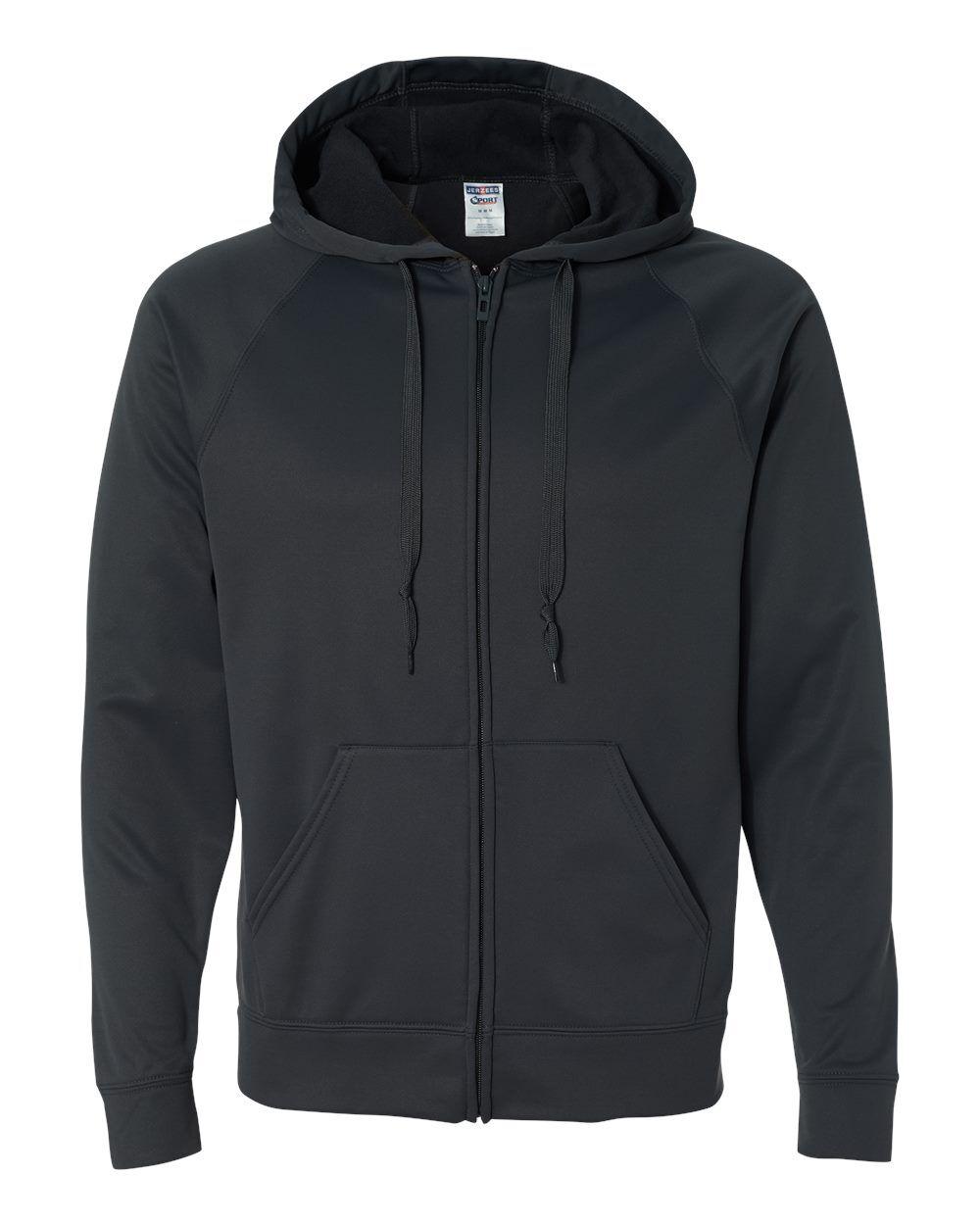 JERZEES - Dri-Power Sport Hooded Full-Zip Sweatshirt - PF93MR - Stealth - 2X-Large