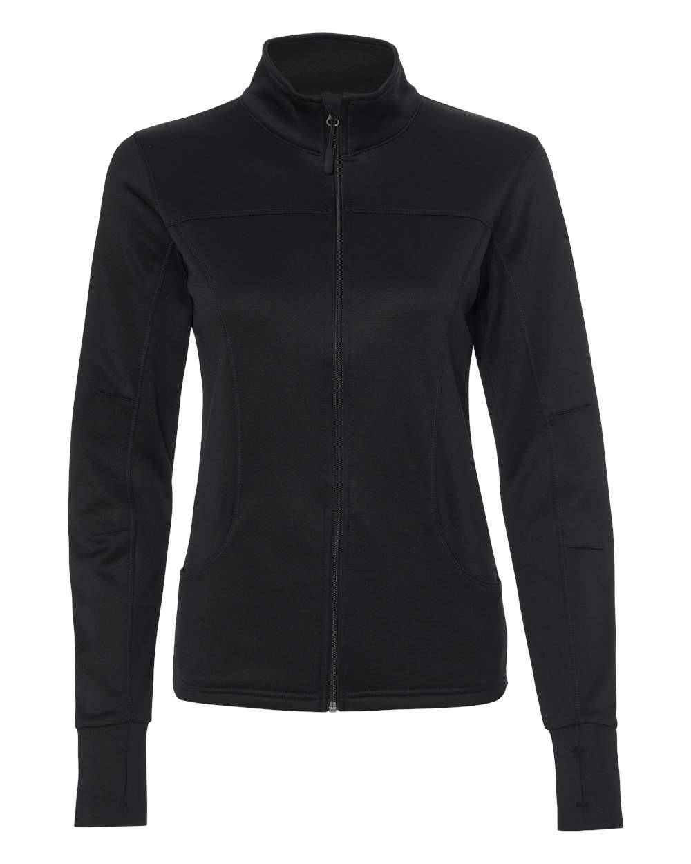 Independent Trading Co. - Women's Poly-Tech Full-Zip Track Jacket - EXP60PAZ - Black - XS - X-Small